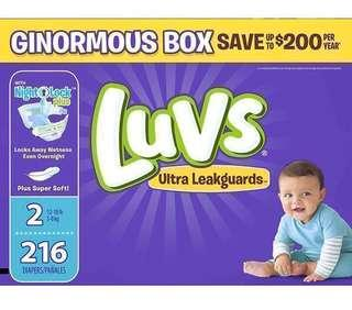 🚚 ❤️ 216 diapers at $60 ❤️ PAMPERS parent co