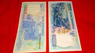 Ancient bank notes Rp.1000