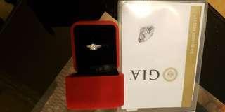 GIA証書,真鑽石戒指