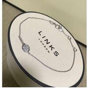 原價碼1500 Links of London Diamond & Silver Tennis Racquet bracelet 鑽石