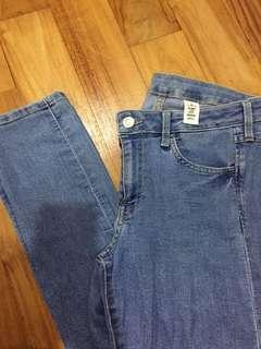 H&M Skinny Low Waist Denim Jeans
