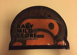 a bathing ape baby milo store plastic bag travel tag
