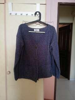 Vintage Blueish grey YENNY knitted cardigan
