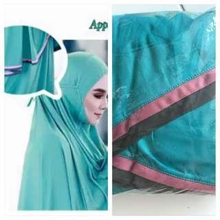 Telekung lace not hijab shawl tudung