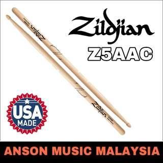 Zildjian Z5AAC Hickory Series 5A Acorn Drumstick, Natural