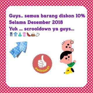 Discount 10% & free ongkir jabodetabek!!!