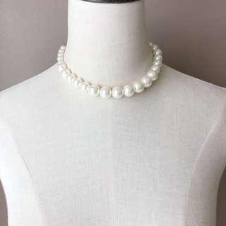 F21 Faux Pearl Necklace