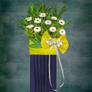 [FREE DELIVERY] Sympathy Funeral Flowers on Box Stand (017-SY)