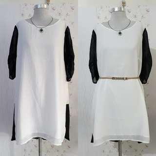 🇰🇷KOREAN SHEERED DRESS