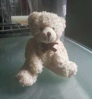 (PRE)Gantungan Boneka Beruang Mini 15cm - Putih Susu