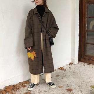 格仔長外套