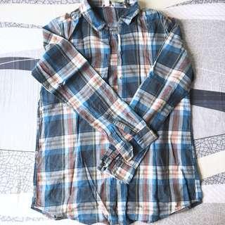 ESPRIT Checked Cotton Shirt 長袖格仔綿質恤衫