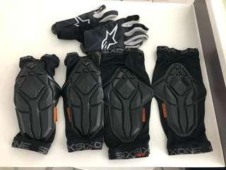 661 Elbow and Knee Guards and Gloves