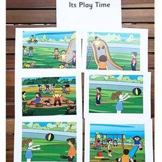 🚚 Flashcards It's Play Time (HEGURU, SHICHIDA, RIGHT BRAIN TRAINING) BRAND NEW Flashcards for right brain training