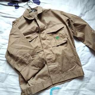 短身 啡色 工人外套