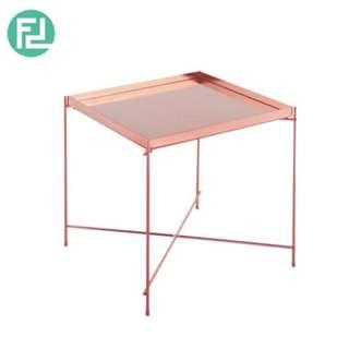 OAKLLEY square mirror top coffee table with metal legs-rose