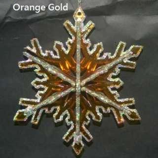 "25cm (10"") Snowflake-Ornage Gold and Silver Color available"