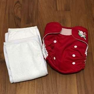 My Eco Nappy Reusable Diaper with 2 Eco Soakers cum Training Pants
