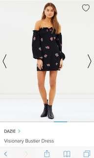ASOS Black bustier Dress