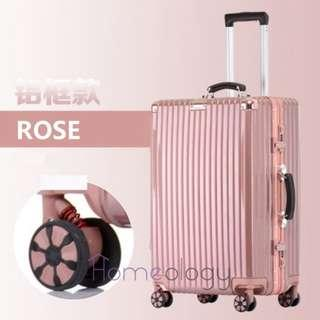 🚚 5 Sizes! Rose 20-29 Inch Travel Aluminum Alloy Frame Luggage Bag Suitcase TSA Lock