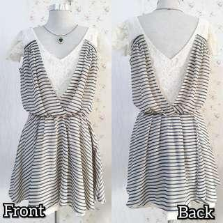 🇰🇷KOREAN LACED SHORT DRESS W/ SHEERED COVER UP