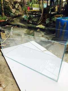 超白玻璃 大魚缸 set 連燈 泵 過濾 80x40x40cm 8mm big super white glass tank aquarium gold fish 🐠