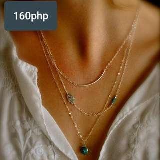 Blue eye layered necklace