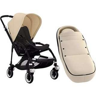 Almost New Bugaboo Bee 5 Off-White, Black Frame with Cocoon (0+ months)