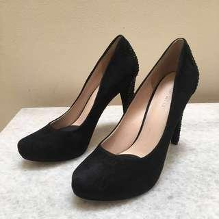 Nine West Coldfeet Suede Black Pump