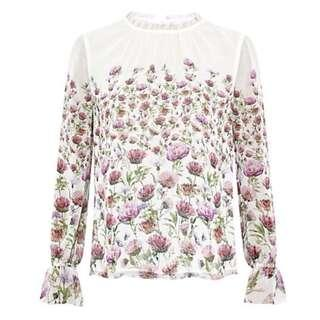 Ted Baker Luceal Thistle Sheer Top