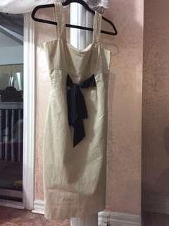 Banana Republic Cream Silk Belt Dress 2