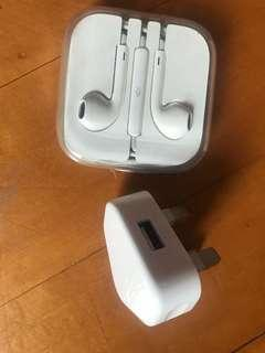 Apple Earphones and plug
