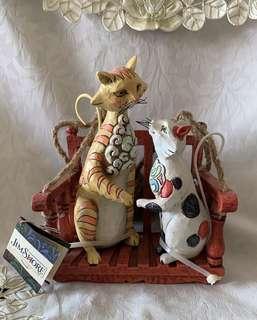 Jim Shore Outdoor Living Friends cat figurine 可愛 貓貓 老鼠 家居 擺設