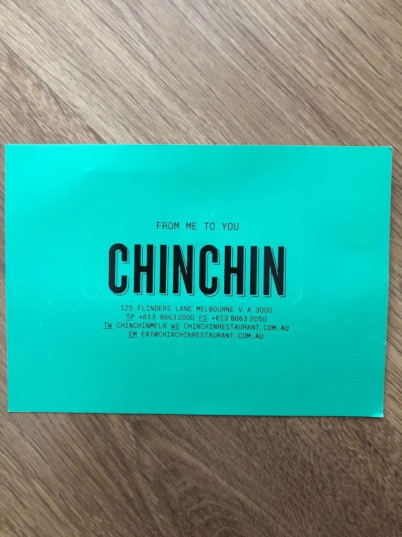 $150 CHIN CHIN VOUCHER