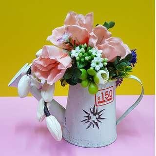 Artificial flower in pot