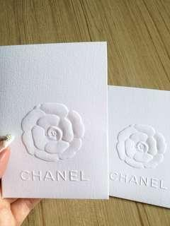 AUTHENTIC CHANEL receipt card holder camellia flower white envelope paper