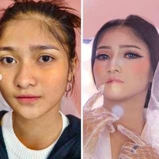 wedding makeup paket gaun makeup hair do photography murah bandung