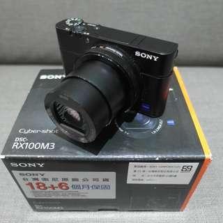 【出售】SONY RX100M3 RX100III 類單眼相機 公司貨 盒裝完整