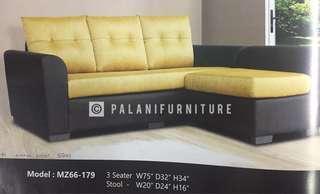 3 Seater Sofa & A stool