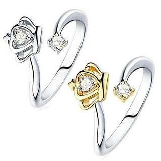 💎女士公主皇后式鋯石戒指貴族禮品 💰:450元