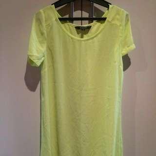 Glassons chiffon dress green