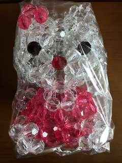 DIY Hello Kitty 22cm高 人造水晶 公仔擺設