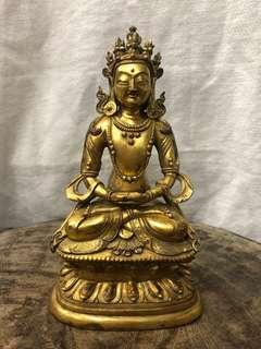 🚚 讓藏 材質:銅鎏金 高於17公分  出清價$58000 無貨到付款喔🙏🏻