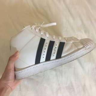 WORN ONCE Adidas Superstar High Size 8
