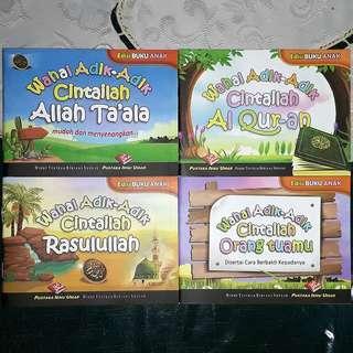 4 books for 1 set. Wahai adik-adik Cintailah ........