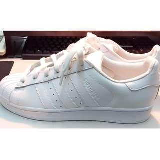 NA→AS Adidas Original Superstar B23641 愛迪達 貝殼頭 純白 板鞋 JP 24.5號 US 6.5號