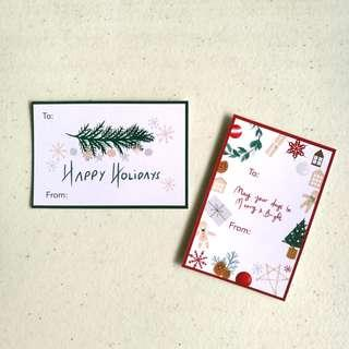 Red and Green Border Christmas Gift Tags
