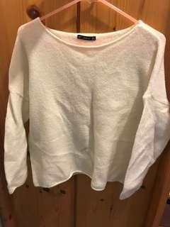 Zara knitwear sweater ivory white top woman size S