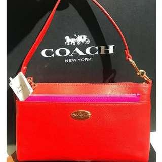 CLEARANCE SALE! AUTHENTIC BRAND NEW WITH TAG COACH Crossgrain Pop Up Pouch Extra Large Clutch  F53014 / 53014