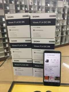 NEW SIGMA 16MM F1.4 SONY E MOUNT